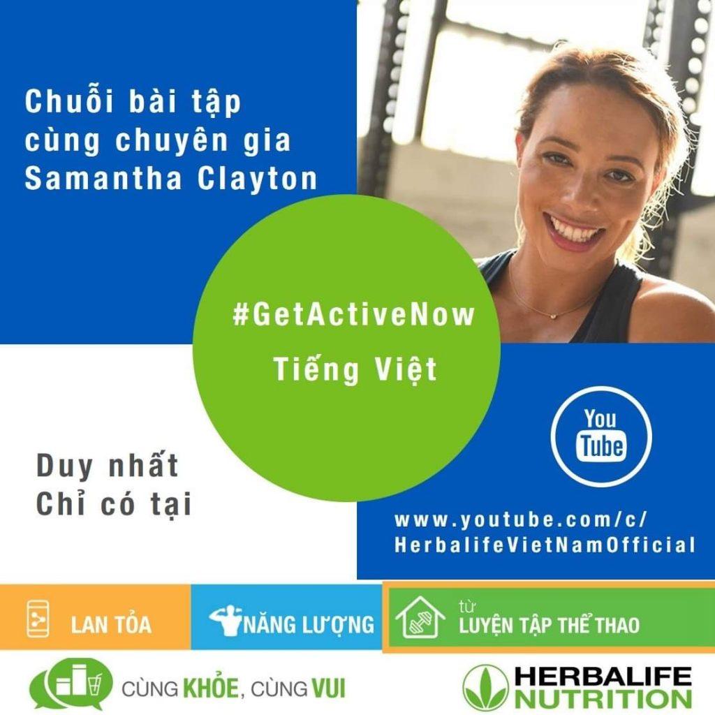 """Herbalife """" video chuỗi bài tập chuyên gia Samantha Clayton"""