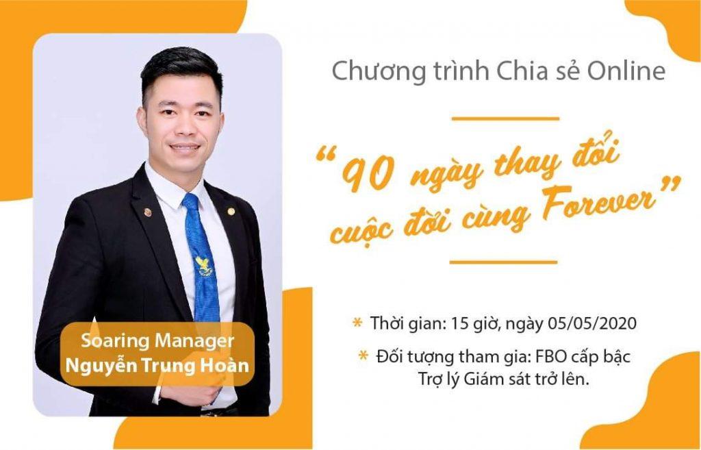 """Nguyễn Trung Hoàn : """"90 ngày thay đổi cuộc đời cùng Forever"""""""