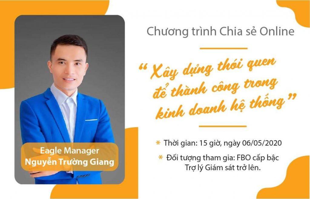 """Eagle Manager Nguyễn Trường Giang tìm hiểu về chủ đề """"Xây dựng thói quen để thành công trong kinh doanh hệ thống"""""""